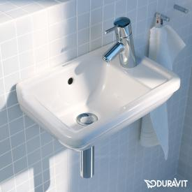 Duravit Starck 3 hand washbasin white, with 1 tap hole