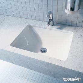 Duravit Starck 3 undercounter washbasin with WonderGliss, without tap hole, with overflow