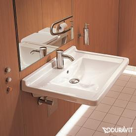 Duravit Starck 3 Vital washbasin, barrier-free white, with WonderGliss, with 1 tap hole