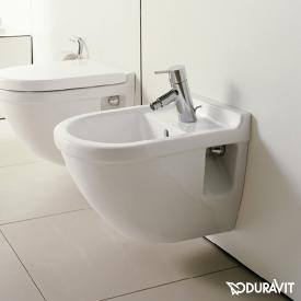 Duravit Starck 3 wall-mounted bidet compact L: 47.5 W: 36 cm with WonderGliss, with 1 tap hole, with overflow