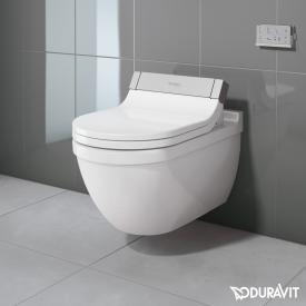 Duravit Starck 3 wall-mounted washdown toilet with SensoWash® Starck e toilet seat, set white