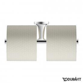 Duravit Starck T double toilet roll holder chrome