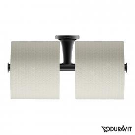 Duravit Starck T double toilet roll holder matt black