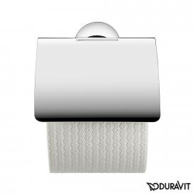 Duravit Starck T toilet roll holder with cover chrome