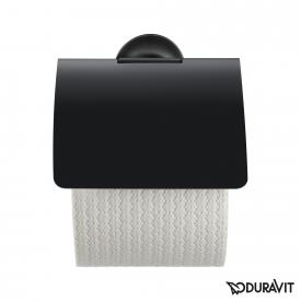 Duravit Starck T toilet roll holder with cover matt black