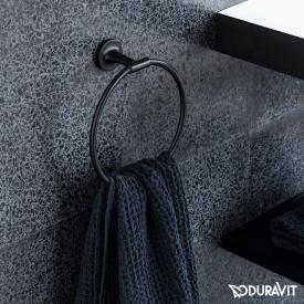 Duravit Starck T towel ring matt black