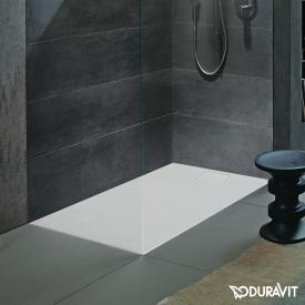 Duravit Stonetto rectangular shower tray matt white
