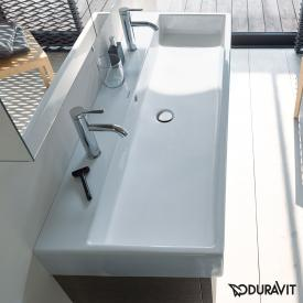 Duravit Vero Air double washbasin white, with WonderGliss, with 2 tap holes, ungrounded, with overflow