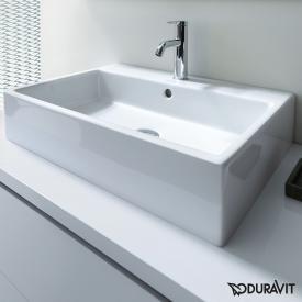 Duravit Vero Air Lavabo blanc, avec WonderGliss, 1 trou percé, meulé, avec trop-plein