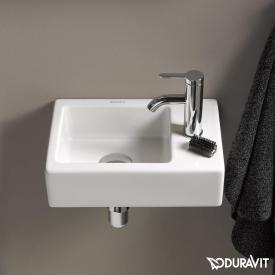 Duravit Vero Air vanity hand washbasin white, with WonderGliss