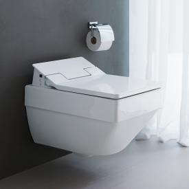 Duravit Vero Air wall-mounted, washdown toilet, rimless with toilet seat white, with WonderGliss