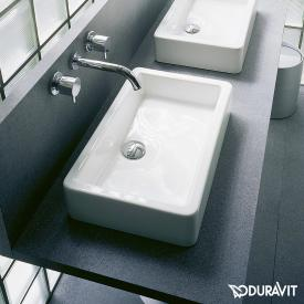 Duravit Vero countertop washbasin white, with WonderGliss, without tap hole, grounded, without overflow