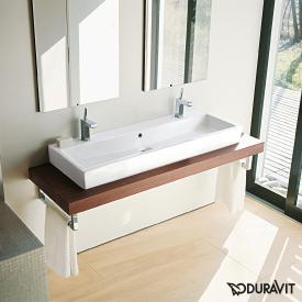 Duravit Vero double washbasin white, with WonderGliss, with 2 tap holes, grounded, with overflow