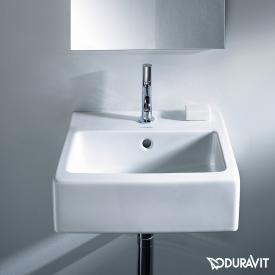 Duravit Vero hand washbasin white, with WonderGliss, with 1 tap hole, ungrounded, with overflow