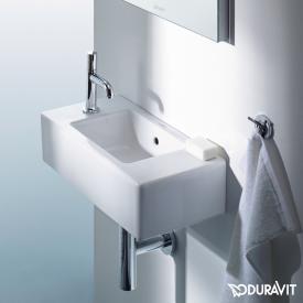 Duravit Vero hand washbasin white, with WonderGliss, with 1 tap hole