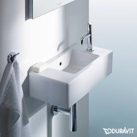 Duravit Vero hand washbasin white, with WonderGliss, with 1 tap hole