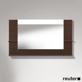 Duravit Vero mirror with LED lighting, shelf at the bottom & on the sides brushed walnut, dimmable