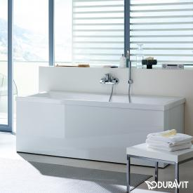Duravit Vero rectangular bath, built-in version or for panelling, with slanted backrest right