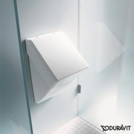 Duravit Vero urinal, rear supply white, with Wondergliss, with lid mounting