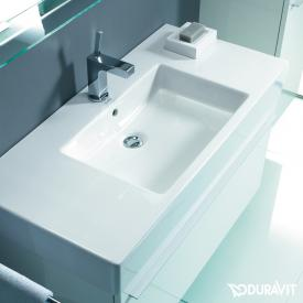 Duravit Vero vanity washbasin white, with WonderGliss, with 1 tap hole, with overflow