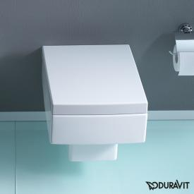 Duravit Vero wall-mounted washdown toilet white, with WonderGliss
