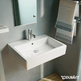 Duravit Vero washbasin white, with WonderGliss, with 1 tap hole, grounded, with overflow