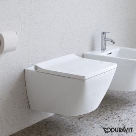 Duravit Viu wall-mounted, washdown toilet white, with WonderGliss