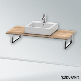 Duravit X-Large console back-to-wall version for countertop/drop-in basin tecino cherry