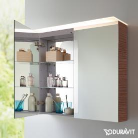 Duravit X-Large mirror cabinet with LED lighting dark chestnut