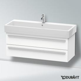 Duravit X-Large vanity unit with 2 pull-out compartments front matt white / corpus matt white