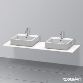 Duravit XSquare console for 2 countertop/drop-in basins white high gloss