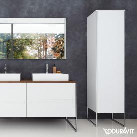 Duravit XSquare tall unit with 1 door front matt white / corpus matt white