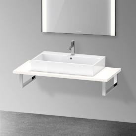 Duravit XViu console for 1 countertop basin / drop-in basin white high gloss