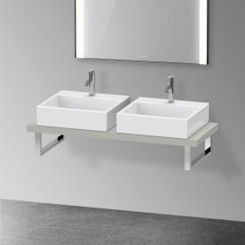 Duravit XViu console for 2 countertop basins / drop-in basins matt concrete grey