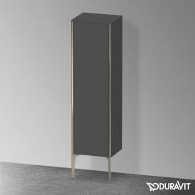 Duravit XViu medium unit with 1 door front matt graphite / corpus matt graphite, profile matt champagne