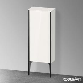 Duravit XViu medium unit with 1 door front white high gloss / corpus white high gloss, profile matt black