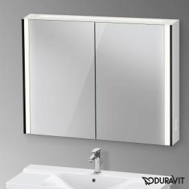 Duravit XViu mirror cabinet with LED lighting, icon version matt black