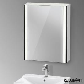 Duravit XViu mirror cabinet with LED lighting, sensor version matt black