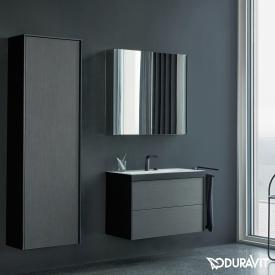 Duravit XViu mirror cabinet with LED lighting Icon Version, matt black