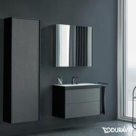 Duravit XViu mirror cabinet with LED lighting, sensor version matt black