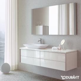 Duravit XViu mirror with LED lighting, icon version matt champagne