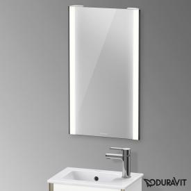 Duravit XViu mirror with LED lighting, sensor version matt black