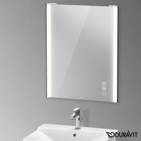 Duravit XViu mirror with LED lighting, icon version matt black
