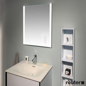 Duravit XViu mirror with LED lighting, icon version matt black