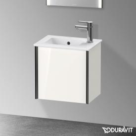 Duravit XViu vanity unit with 1 door white high gloss, profile matt black, without interior system