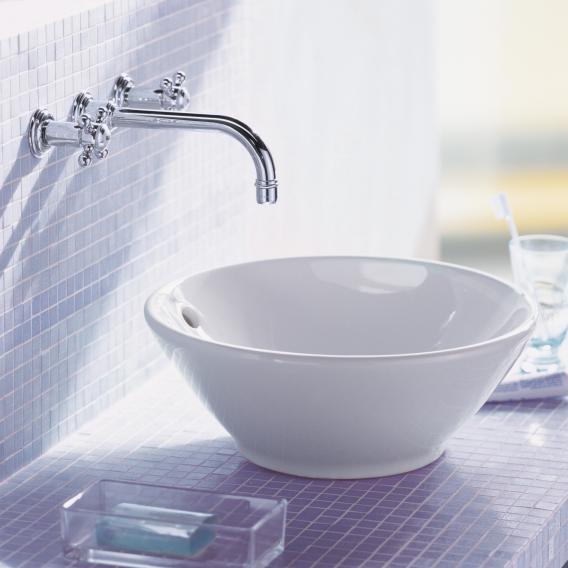 Duravit Bacino countertop washbasin white, with WonderGliss