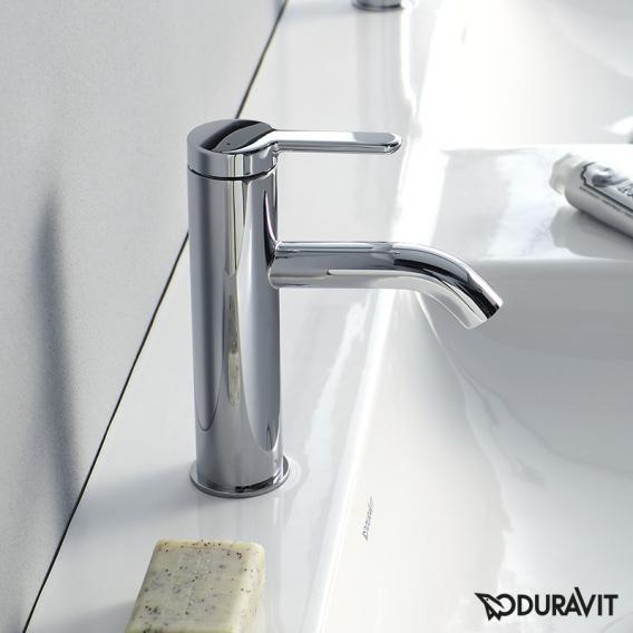 Duravit C.1 single lever basin mixer M chrome, without waste set