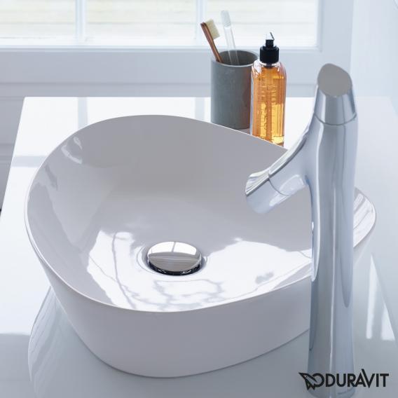 Duravit Cape Cod countertop basin white, with WonderGliss