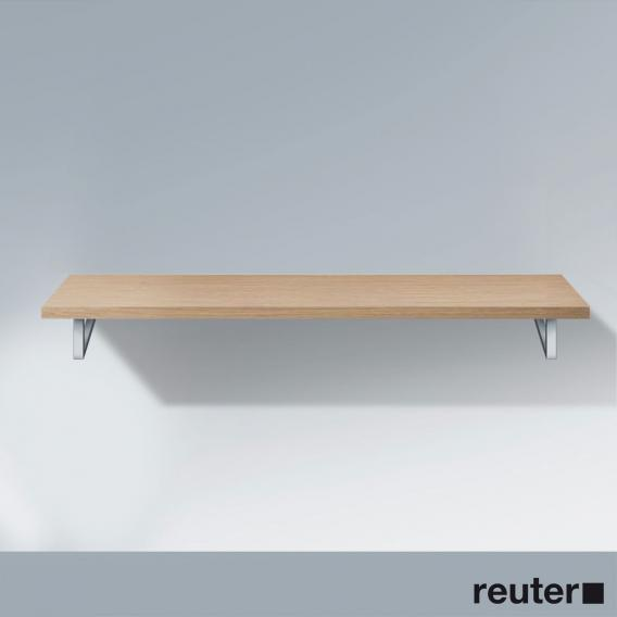 Duravit console without cut-out for countertop washbasin european oak
