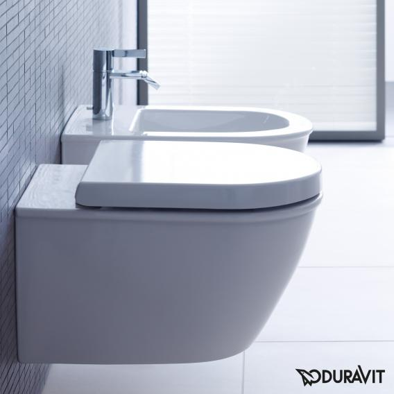 Duravit Darling New wall-mounted washdown toilet white, with WonderGliss